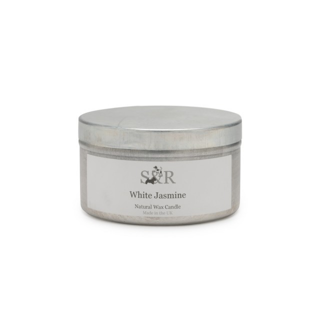 White jasmine tin candle