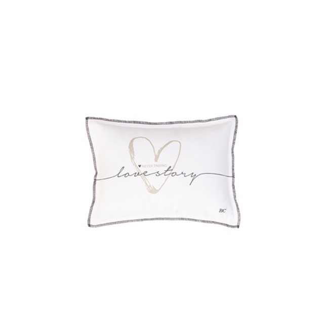 White love story cushion